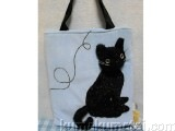 Fashion Tote Black Cat  Blue image
